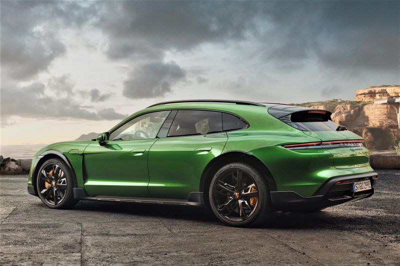 title image of A practical Porsche Taycan is here. Its name is Cross Turismo.