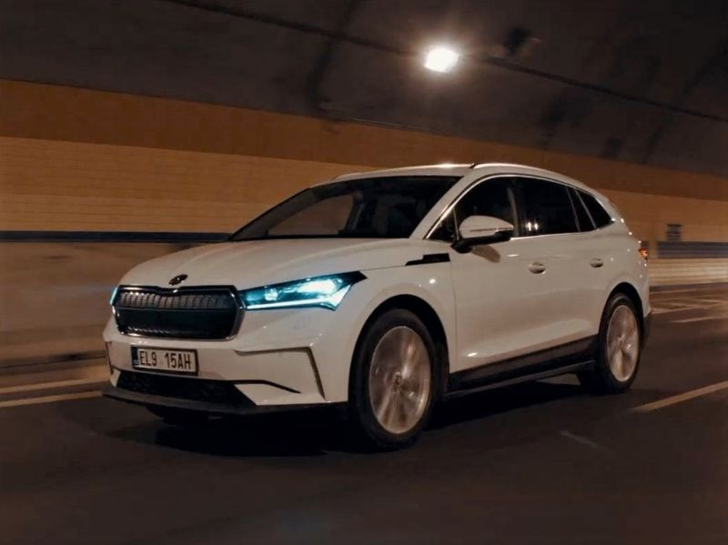 title image of First official driving video of Skoda Enyaq